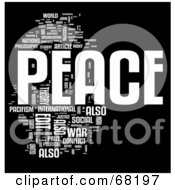 Royalty Free RF Clipart Illustration Of A Peace Word Collage Version 1