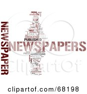 Royalty Free RF Clipart Illustration Of A Newspaper Word Collage Version 3