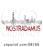 Royalty Free RF Clipart Illustration Of A Word Collage Nostradamus