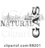 Royalty Free RF Clipart Illustration Of A Natural Gas Word Collage Version 3