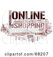 Royalty Free RF Clipart Illustration Of An Online Word Collage Version 3