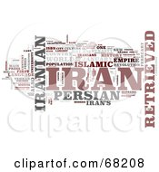Royalty Free RF Clipart Illustration Of An Iran Word Collage Version 1