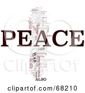 Royalty Free RF Clipart Illustration Of A Peace Word Collage Version 2