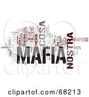 Royalty Free RF Clipart Illustration Of A Mafia Word Collage Version 2