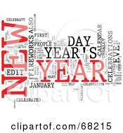 Royalty Free RF Clipart Illustration Of A New Year Word Collage Version 4
