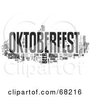 Royalty Free RF Clipart Illustration Of An Oktoberfest Word Collage Version 1