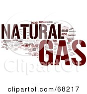 Royalty Free RF Clipart Illustration Of A Natural Gas Word Collage Version 1