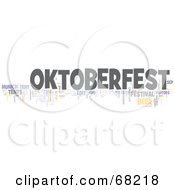 Royalty Free RF Clipart Illustration Of An Oktoberfest Word Collage Version 3