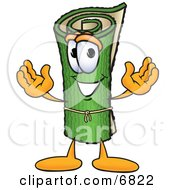 Clipart Picture Of A Green Carpet Mascot Cartoon Character