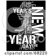 Royalty Free RF Clipart Illustration Of A New Year Word Collage Version 1