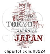 Royalty Free RF Clipart Illustration Of A Japan Word Collage Version 3 by MacX