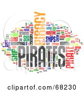 Royalty Free RF Clipart Illustration Of A Piracy Word Collage Version 3