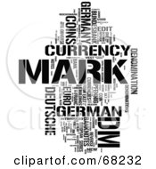 Royalty Free RF Clipart Illustration Of A Mark Word Collage Version 4 by MacX