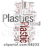 Royalty Free RF Clipart Illustration Of A Plastic Word Collage Version 2
