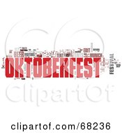 Royalty Free RF Clipart Illustration Of An Oktoberfest Word Collage Version 2