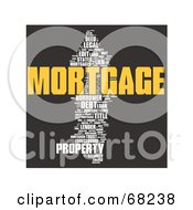 Royalty Free RF Clipart Illustration Of A Mortgage Word Collage Version 2