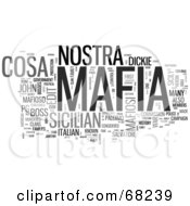 Royalty Free RF Clipart Illustration Of A Mafia Word Collage Version 4