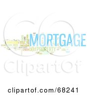 Royalty Free RF Clipart Illustration Of A Mortgage Word Collage Version 1