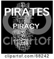 Royalty Free RF Clipart Illustration Of A Piracy Word Collage Version 4