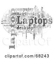 Royalty Free RF Clipart Illustration Of A Word Collage Laptop by MacX