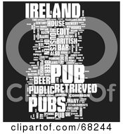 Royalty Free RF Clipart Illustration Of An Ireland Pub Word Collage Version 1