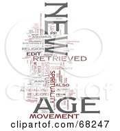 Royalty Free RF Clipart Illustration Of A New Age Word Collage Version 1
