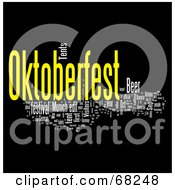 Royalty Free RF Clipart Illustration Of An Oktoberfest Word Collage Version 8