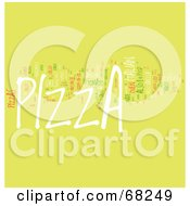 Royalty Free RF Clipart Illustration Of A Pizza Word Collage Version 3