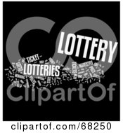 Royalty Free RF Clipart Illustration Of A Lottery Word Collage Version 1