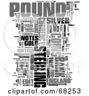 Royalty Free RF Clipart Illustration Of A Pound Word Collage Version 1 by MacX