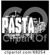 Royalty Free RF Clipart Illustration Of A Pasta Word Collage Version 3