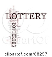 Royalty Free RF Clipart Illustration Of A Lottery Word Collage Version 2