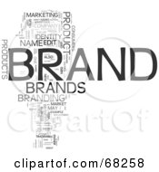 Royalty Free RF Clipart Illustration Of A Brand Word Collage Version 1