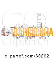 Royalty Free RF Clipart Illustration Of A Barcelona Word Collage Version 3