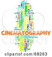 Royalty Free RF Clipart Illustration Of A Cinematography Word Collage Version 4