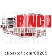 Royalty Free RF Clipart Illustration Of A Bingo Word Collage Version 3
