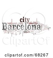Royalty Free RF Clipart Illustration Of A Word Collage Barcelona