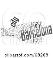 Royalty Free RF Clipart Illustration Of A Barcelona Word Collage Version 2