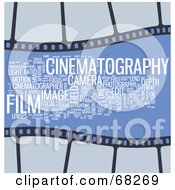 Royalty Free RF Clipart Illustration Of A Cinematography Word Collage Version 2
