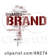 Royalty Free RF Clipart Illustration Of A Brand Word Collage Version 2
