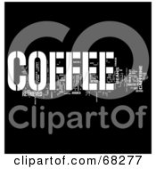 Royalty Free RF Clipart Illustration Of A Coffee Word Collage Version 1