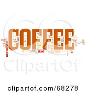 Royalty Free RF Clipart Illustration Of A Coffee Word Collage Version 2