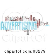 Royalty Free RF Clipart Illustration Of An Advertising Word Collage Version 2
