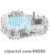Royalty Free RF Clipart Illustration Of A Biofuels Word Collage Version 3