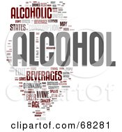 Royalty Free RF Clipart Illustration Of An Alcohol Word Collage Version 2