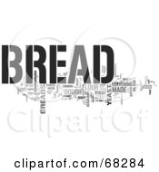 Royalty Free RF Clipart Illustration Of A Bread Word Collage Version 3