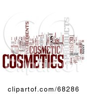 Royalty Free RF Clipart Illustration Of A Cosmetics Word Collage Version 4