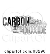 Royalty Free RF Clipart Illustration Of A Carbon Dioxide Word Collage Version 3