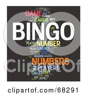 Royalty Free RF Clipart Illustration Of A Bingo Word Collage Version 2