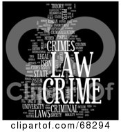 Royalty Free RF Clipart Illustration Of A Crime Word Collage Version 1